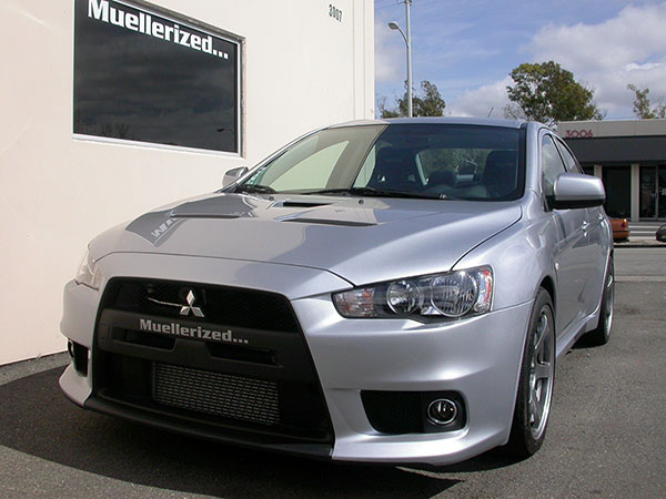 Muellerized Evo X                                               with Stage 2+ (Muellerized                                               JIC Coilover Suspension                                               and Front/Rear Anti-Roll                                               Bars)